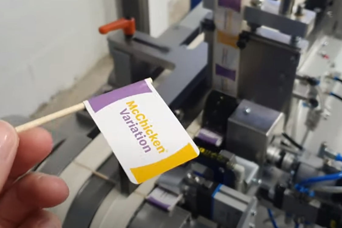 Food Flag Machine Automation
